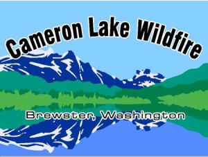 cameron lake sign