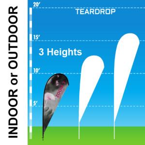 Teardrop wind banner