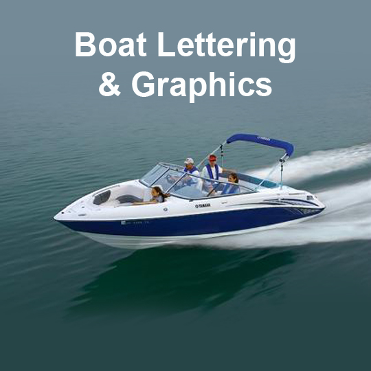 Home / Vehicle Graphics / Magnetic Signage / Boat Graphics & Lettering