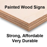 Rigid wood signs