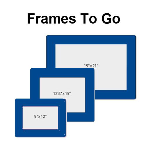 Frames To Go (Slide In) Mats – Blue | Instant Sign Factory