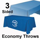 3 sided economy table throw