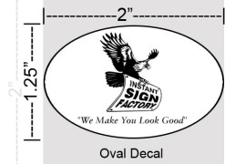 Oval Decals